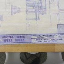 Image of Heritage Square Opera House elevation plan, title