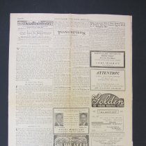 Image of Colorado Transcript newspaper, back