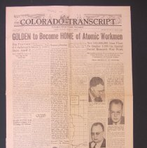 Image of Colorado Transcript newspaper