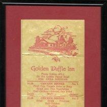 Image of Golden Waffle Inn menu
