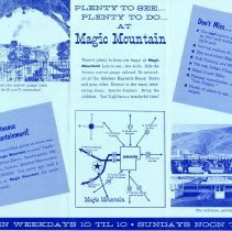 Image of Magic Mountain brochure, back