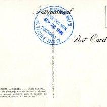 Image of Washington Avenue postcard, back