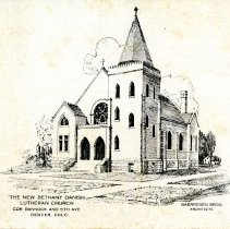 Image of The New Bethany Danish Luthern Church postcard