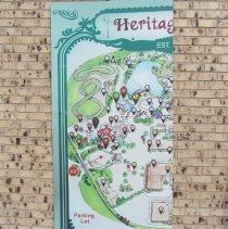 Image of Heritage Square map sign, left side