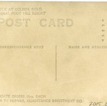 Image of back side of postcard, c 1910