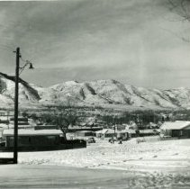 Image of Popular sledding hill in Lookout Veiw Drive in Golden, Colorado