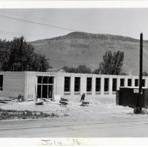 Image of Central School construction 1936