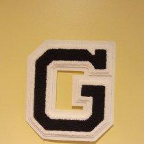Image of Golden High School varsity letter