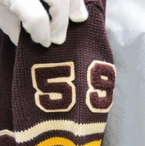 Image of 1959 athletic sweater arm