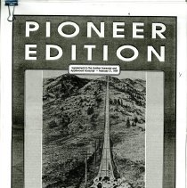 Image of Black and white photocopy of Pioneer Edition, Supplement to The Transcript, February 21, 1989. Supplement focuses on business of Golden, Colorado at time of publishing.   Supplement has articles on The Transcript, Adolph Coors Company, Public Service Company of Colorado, Foss Drug General Store, Golden Ford Inc., First Interstate Bank of Golden N.A., Speer Furniture Co., Meyer Hardware, Banks Insurance Agency Inc., Plummer's Jewelry, Lee Sugg Insurance, United Cable of Colorado, Lakewood Optical, Edwards Meats, Colorado National Bank- Golden, Holiday Inn- Denver West, Octopus Car Wash, Applewood Amoco, Cottage Inn, Pizza Hut, Golden Terrace/ Hideaway Hills, Red Rocks Community College, Classic Honda, Wally's Quality Meats and Delicatessen, Creative STaned Glass Studio Ltd., Citywide Bank of Applewood, Carleen's of Golden Inc., Steve's Corner, Golden Chiropractic Center P.C., Mesa Imports, Adams Wood Design and Waterbeds Inc., Foothills Chiropractic Health Center, Golden Natural Foods, Animal Feed and Supply, Golden Inn Restaurant, International Tours- The Cruise Store- Village Travel, Applewood Village Paint and Wall Coverings, Denver West Bank and Trust, Encore Shop, Table Mountain Feed, The Apple Cart, The Colorado Angler, Kwik Kopy, Firstworld Travel of Applewood Inc., Applewood Quality Builders, Lemon Cheese Co. Ltd., Henri's Ladies' Shoppe, The Country Café, Clippin' Post, Decorating Den, The Artist Pad, Andolini's Restaurant and Lounge, The Artful Framer, The Diet Center of Wheat Ridge, Crissman Cadillac, Innovative Health at Home Inc., Sid's Golden 66 Service, Body Fitness Salon, Gold's Corner Grocery,