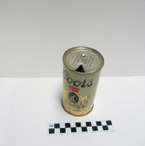 Image of Coors Banquet steel can 2, top