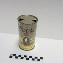 Image of Coors Banquet steel can 4, top