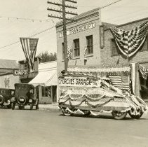 Image of Churches Garage Parade postcard