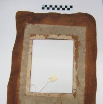 Image of leather frame, reverse