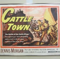 """Image of """"Cattle Town"""" poster"""