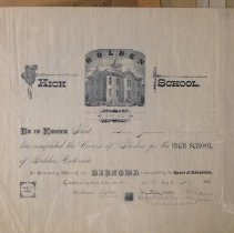 Image of Grace Jameson Golden High School diploma
