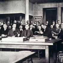Image of male students and/or professors in a classroom at the Colorado School of Mi