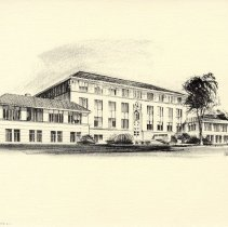 Image of drawing of Colorado School of Mines Berthoud Hall