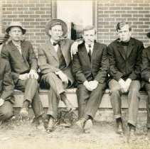 Image of Six male CSM students at Crucible House