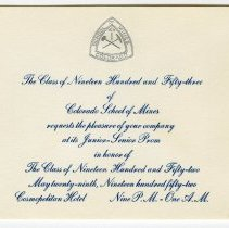 Image of 1952 CSM prom invitation