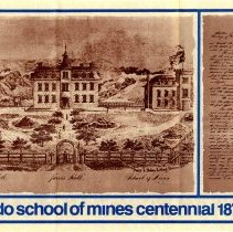 Image of Colorado School of Mines Centennial poster