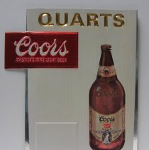 "Image of Coors ""in quarts"" sign"