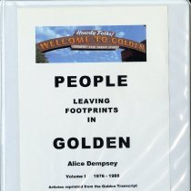 Image of Notebook - People Leaving Footprints in Golden by Alice Dempsey, Volume I 1976-1988