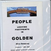 Image of Notebook - People Leaving Footprints in Golden by Alice Dempsey, Volume II 1989-2003