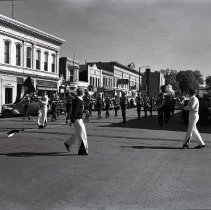 Image of Marching band on Washington Ave