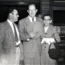 Image of Carl and Dorothy Enlow at homecoming, 1957