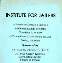 Image of Institute for Jailers