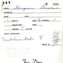 Image of Foss Drug photo envelope
