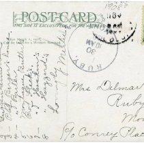 Image of Alice Prier postcard of Golden, reverse