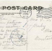 Image of Alice Prier postcard, Denver, reverse