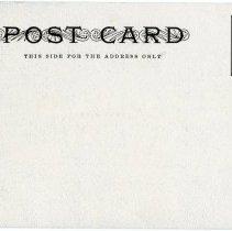 Image of Unused Stratton Hall postcard, reverse