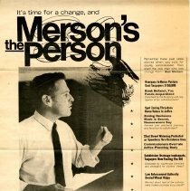 Image of Merson for County Commissioner poster