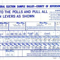 Image of 1966 sample ballot