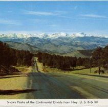 Image of Snowy Peaks of the Continental Divide from Hwy 6 and 40