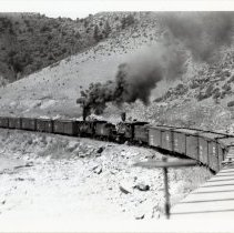 Image of real photo postcard, C&S train 1937