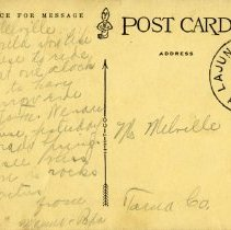 Image of postcard 1467 New Arrivals at Golden, Colo., reverse