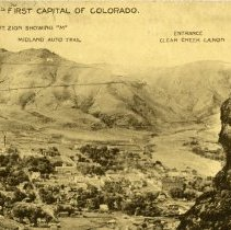 Image of postcard 1464 Golden- First Capital of Colorado