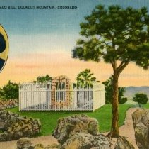Image of Grave of Buffalo Bill, Lookout Mountain, Colorado postcard