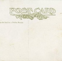 """Image of """"Where gold was first discovered"""" Postcard, reverse"""