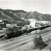 Image of 1979 C&S train leaving the Coors Brewery