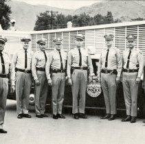 Image of Group photo - 10 uniformed Golden Police Department officers, 1968