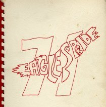Image of Yearbook: soft-cover annual for Golden Junior High School for 1970-1971 school year.
