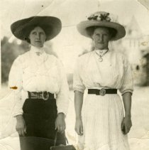 Image of Photographic postcard - two women
