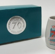 Image of Souvenir Tiny Mug Coors Ceramics Co. 1990