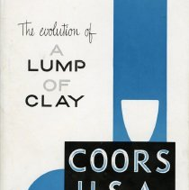 "Image of Book, ""The Evolution of a Lump of Clay"" subtitled ""Scientific and Industrial Porcelain."""