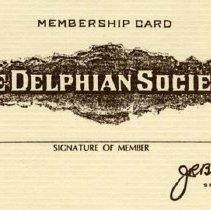 Image of Delphian Society membership card